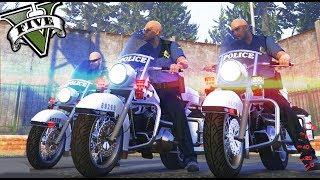 GTA 5 LIFE - POLICIAS MONGOLOS EN MOTO! XDD - Nexxuz