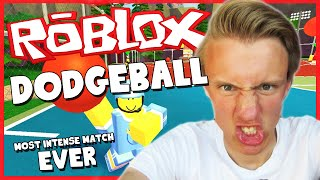 ROBLOX - DODGEBALL - MOST INTENSE MATCH EVER!? (Funny Moments Gameplay)