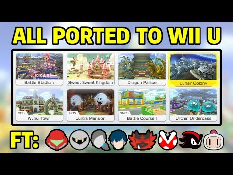 All Mario Kart 8 Deluxe Battle Courses Ported to Wii U Ft Smash Bros Character Skins
