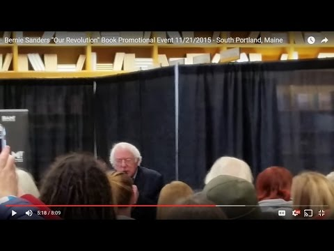 "Bernie Sanders ""Our Revolution"" Book Promotional Event 11/21/2016 - South Portland, Maine"