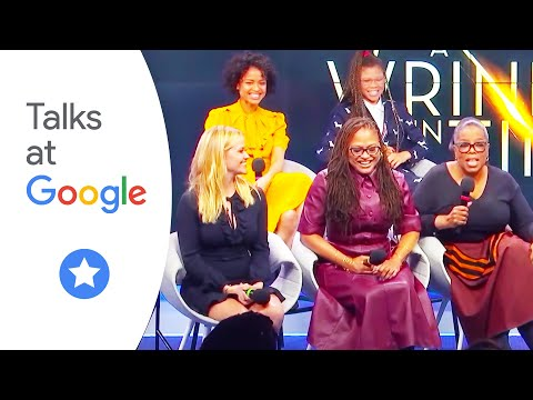 "Oprah Winfrey, Reese Witherspoon, Ava DuVernay and the cast of Disney ""A Wrinkle in Time"""