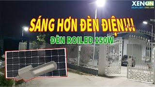 Đèn đường 150W Gắn Luôn Trong Khuôn Viên Nhà, Sáng Choang, Trộm Phải Tránh Xa