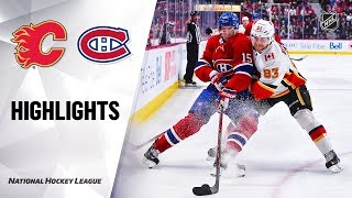 NHL Highlights Flames Canadiens 1 13 20