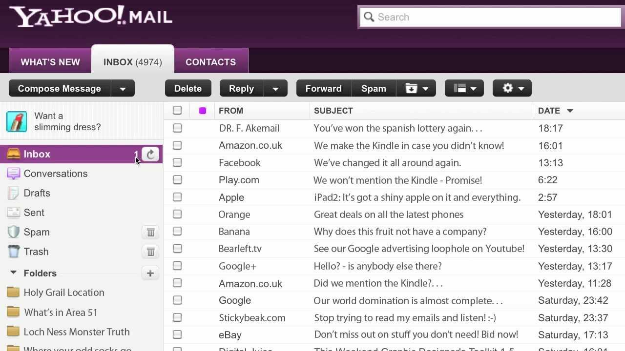How To Find Unread Emails In Yahoo
