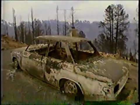News footage Of Fires In Oakland, California   October 21, 1991