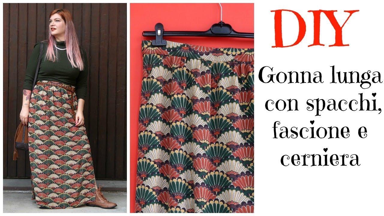 brand new b4884 dad97 #DIY tutorial: come cucire una gonna lunga con fascione e cerniera