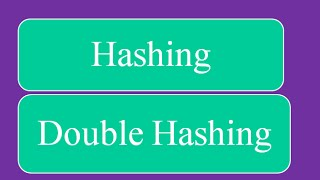 Hashing - Double Hashing Collision Resolution
