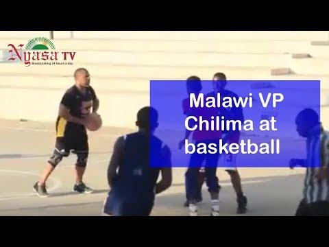 Malawi VP Chilima at basketball