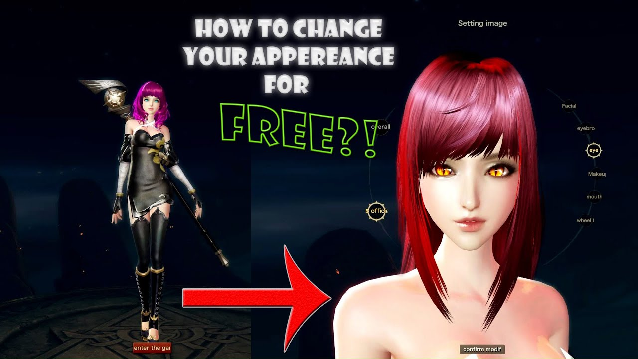 Revelation-How to change your character appereance for FREE - YouTube