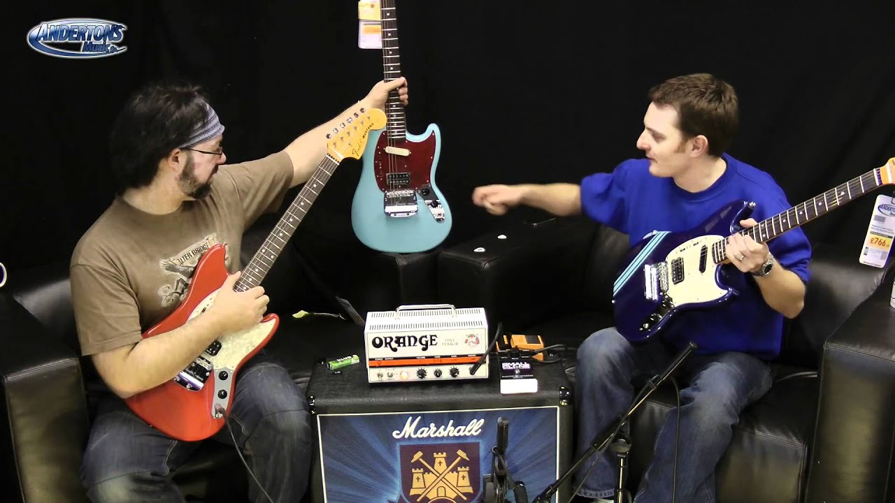 new kurt cobain fender mustang guitars at andertons youtube. Black Bedroom Furniture Sets. Home Design Ideas