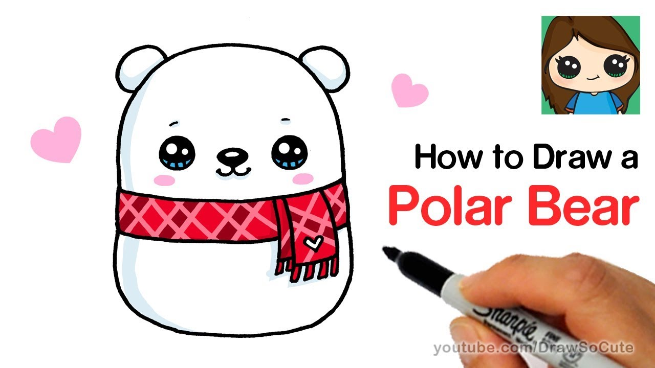 How To Draw A Holiday Polar Bear Easy Squishmallows