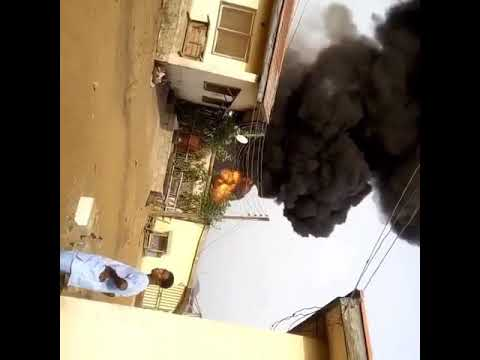Fuel Scarcity: Police Barrack In Ibadan Selling Petrol Gutted By Fire (Watch Video)