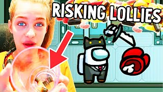 RISKING CANDY LOLLIES IN AMONG US - Gaming w/ The Norris Nuts