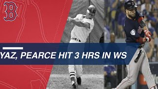 Pearce joins Yaz in Red Sox history books with 3 HRs