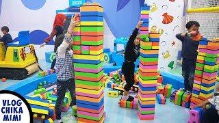 Serunya Bermain Block Puzzle Besar di Taman Bermain Anak Kidzilla