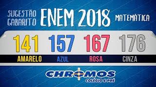 Gabarito ENEM 2018 CHROMOS - Prova Amarela: Questão 141   Matemática