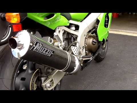 1998 Kawasaki ZX-9R with Muzzy Carbon Fiber Bolt on Exhaust