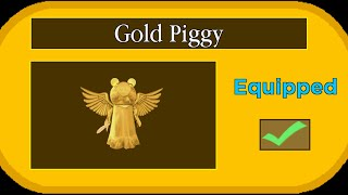 NEW GOLD PIGGY SKIN.. (How to Unlock It) | Roblox Piggy Bloxy Skin