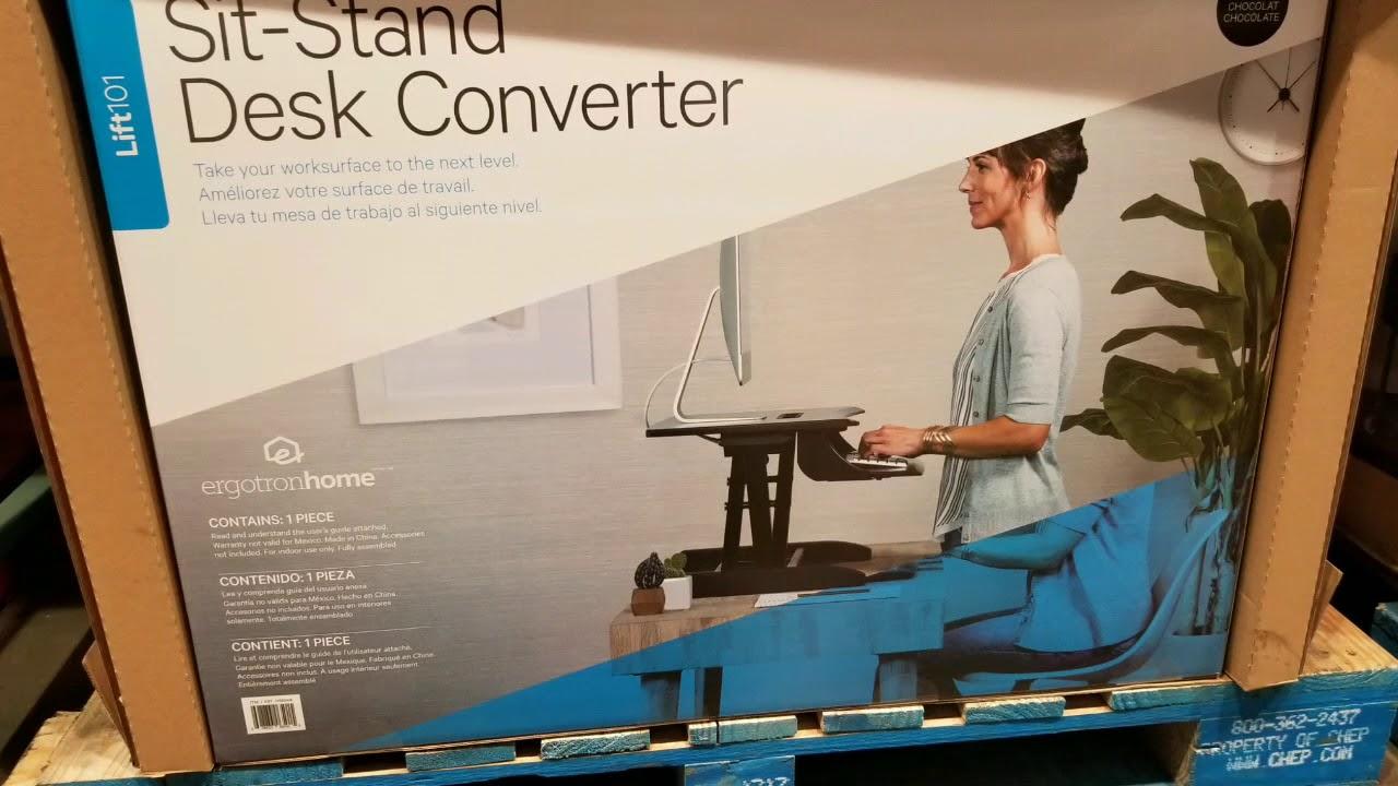 Costco Ergotron Sit Stand Desk Converter 199 Youtube