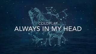 coldplay always in my head lyrics