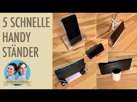 diy handyhalter st nder aus visitenkarte oder kleines. Black Bedroom Furniture Sets. Home Design Ideas