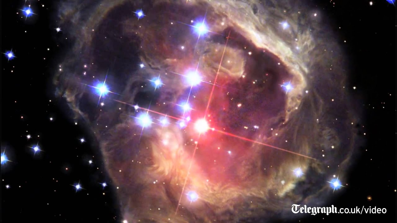 Hubble captures star explosion over four years - YouTube
