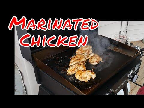 Marinated Griddled Chicken - Blackstone Griddle Recipe