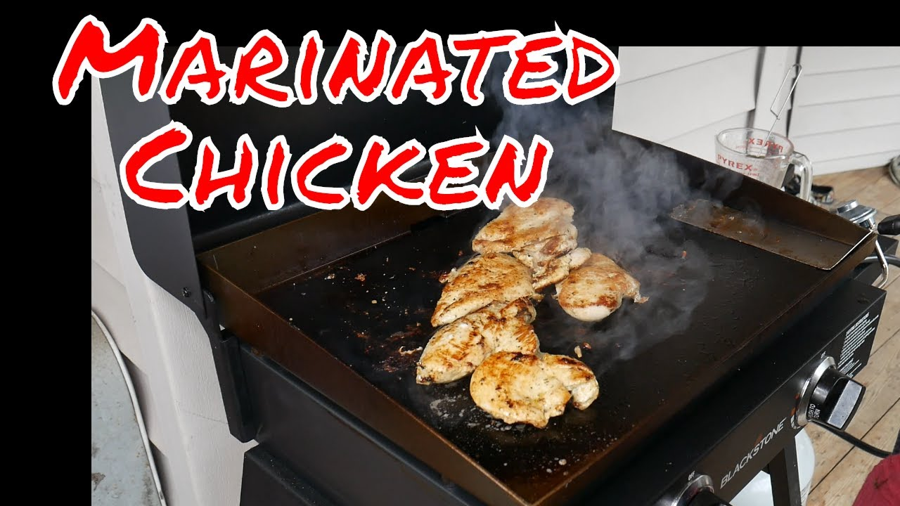 Marinated Griddled Chicken Blackstone Griddle Recipe Youtube