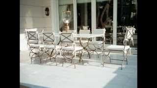 Rich And Classy Garden Dining Furniture Set - Patio Dining Table - Wrought Iron Outdoor Furniture