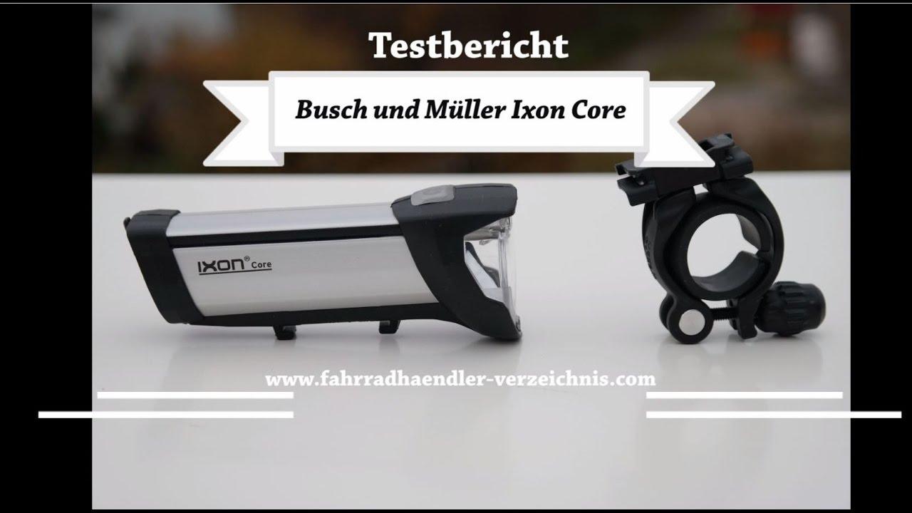 b m ixon core fahrradlicht led test fahrradlampe busch. Black Bedroom Furniture Sets. Home Design Ideas