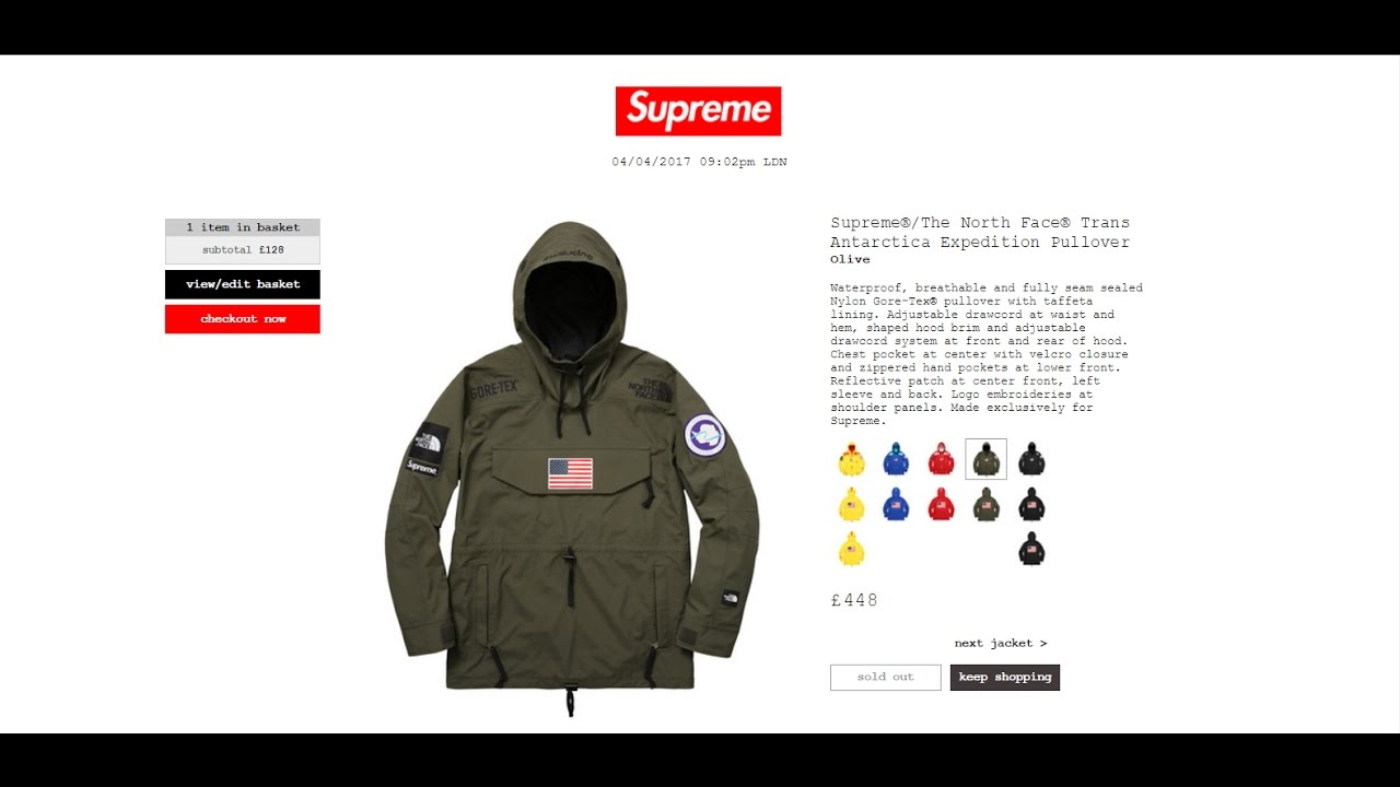 Buy Supreme Clothing Online