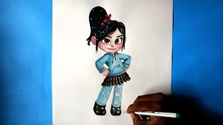 how to draw vanellope von schweetz from wreck it ralph