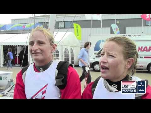 Sail For Gold: Amanda Clark and Sarah Lihan (470W), Silver Medalists