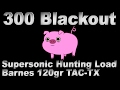 300 BLK Supersonic Hunting Load with 120gr Barnes TAC-TX ...