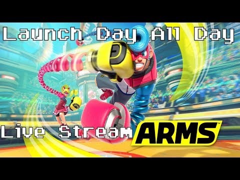 ARMS - Launch Day All Day Live Stream (Single Player & Ranked)