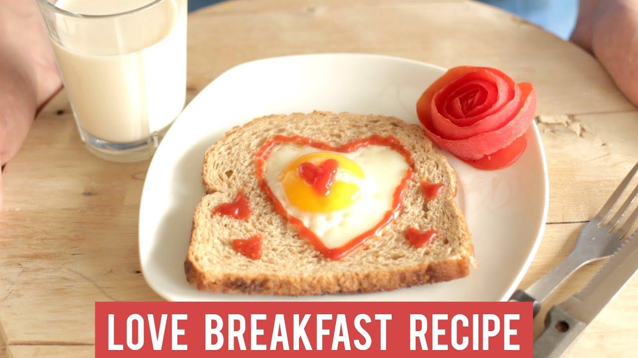 Valentine Love Breakfast Recipe Enjoy Your Heart Shaped