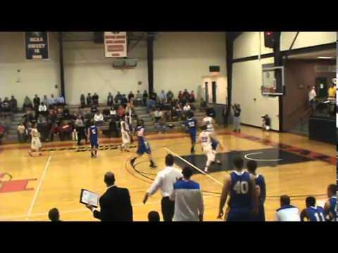 DeSales Basketball - Freshmen Connor Jones and Steve Ciotti buzzer beater at half-time