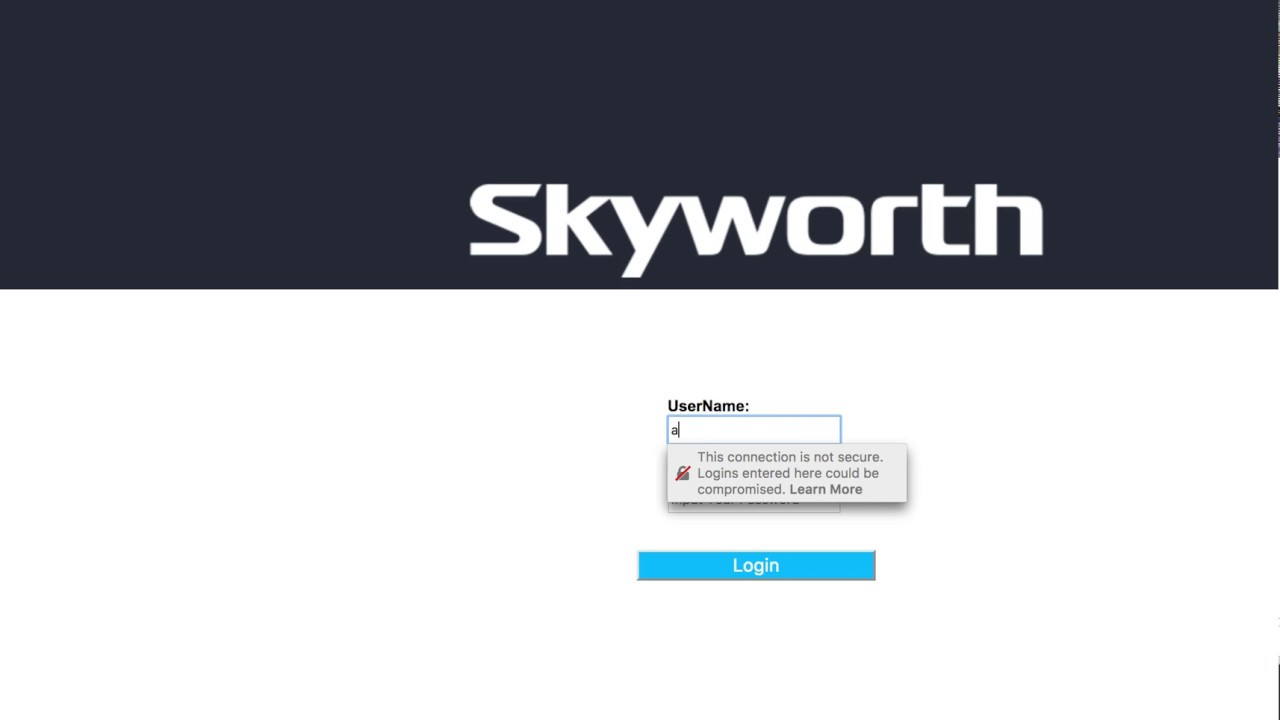 Hathway Skyworth Router Default Password After Reset