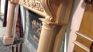 The Atlanta Mantel (cherry With Clear Coat Finish) - Wood Fireplace Mantels