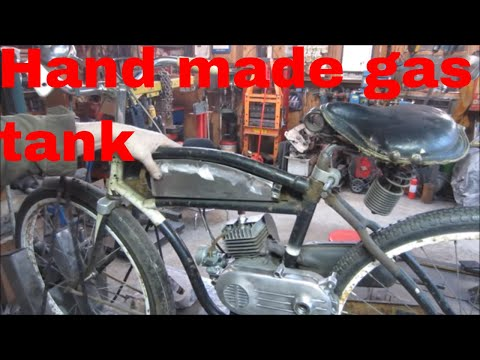 making the gas tank from scratch for my engine assisted bike.
