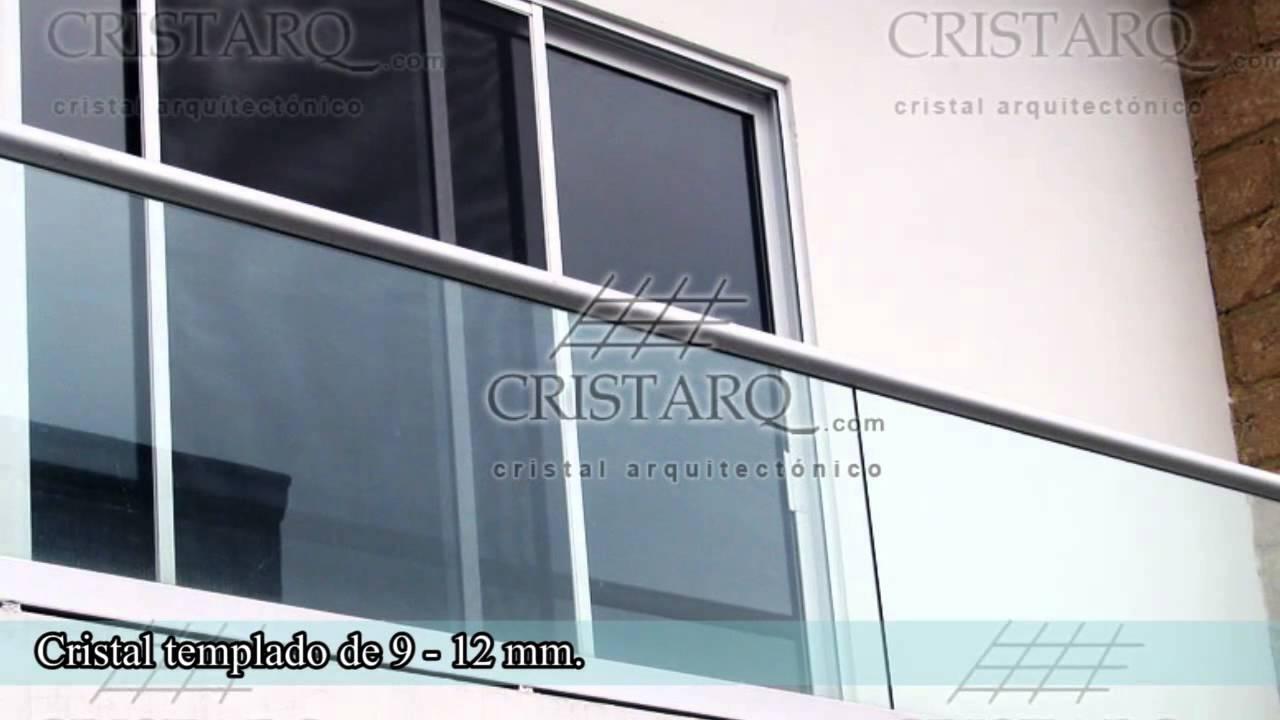 barandales de cristal templado y acero inoxidable cristarqcom youtube