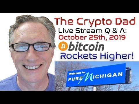 CryptoDad's Live Q. & A. Bitcoin News:  Bitcoin Rockets Higher!