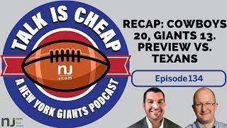 NFL Week 2 recap: Cowboys 20, Giants 13 | Preview: Giants vs. Texans