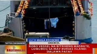 BT: Search and rescue ops sa lumubog na roro sa Burias Island, patuloy