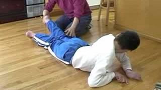 Daniel on the floor - Severe Spastic Quad Cerebral Palsy teenager💜