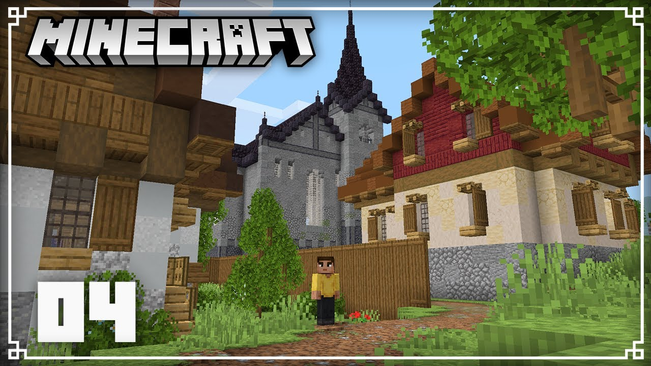 Building a Massive Church & Talking about Caves & Cliffs!   Minecraft 1.16 Survival Lets Play