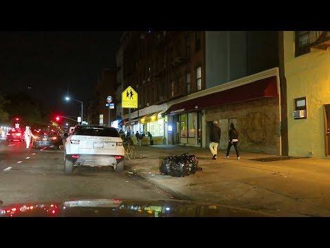 HARLEM NEW YORK HOODS AT NIGHT
