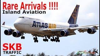 (7) Super Rare Arrivals !!! Cubana An-148, Atlas Air 747-400, Peter Nygard 727....@ St. Kitts