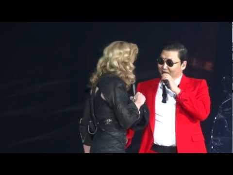 Madonna And Psy - MDNA Give It 2 Me / Gangnam Style / Music - Madison Square Garden