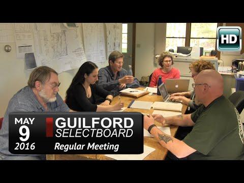 Guilford Selectboard Mtg 5/9/16